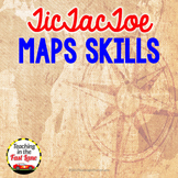 Map Skills TicTacToe Choice Board Extension Activities