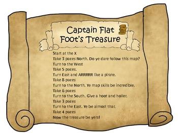 Map Skills: Treasure Hunts using Compass and Longitude and Latitude