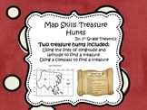 Map Skills: Treasure Hunts using Compass and Longitude and Latitude