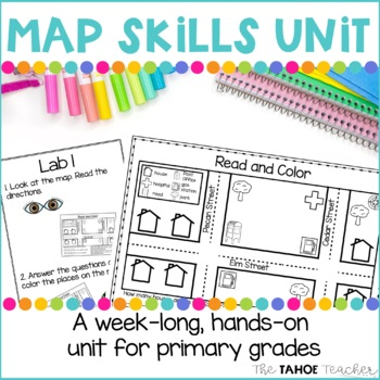 Map Skills Unit | Skills Centers for Primary Grades