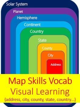 Map Skills Vocab Activity {address, city, state, country, continent...& beyond!}