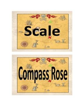 Map Skills Vocabulary Cards