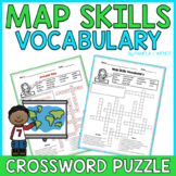 Map Skills Vocabulary Crossword Puzzle - Common Core Grade 3