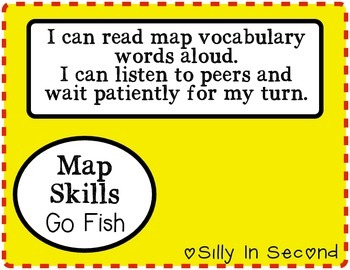 Map Skills Vocabulary - Go Fish