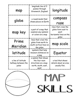 Map Skills Vocabulary Match