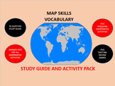 Map Skills Vocabulary: Study Guide and Activity Pack