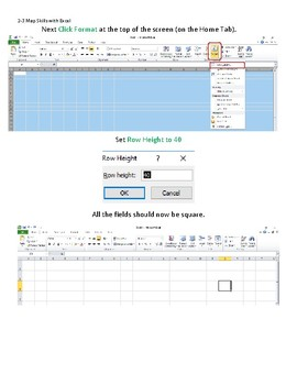 Map Skills Web Quest and Excel Practice: Technology Lesson