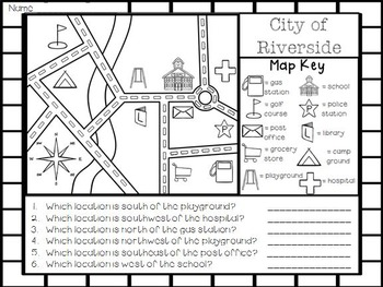 Map Skills - Where I'm From, Cardinal and Intermediate Directions, and Grid Maps