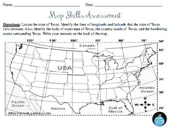 map skills worksheet by making connections in social studies tpt. Black Bedroom Furniture Sets. Home Design Ideas