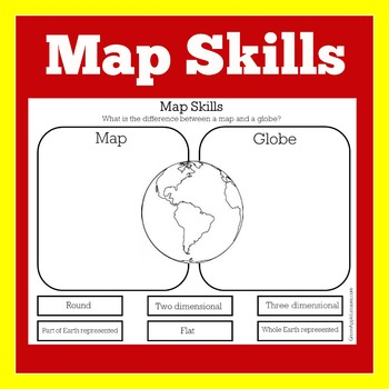 Map Skills Worksheet | Map Skills First Grade by Green Apple Lessons