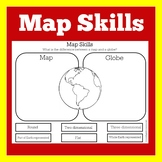 Map Skills Worksheet | Map Skills First Grade