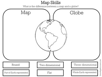 map skills worksheet map skills first grade by green apple lessons. Black Bedroom Furniture Sets. Home Design Ideas