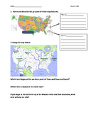 Map Skills and Colonial Regions Assignment