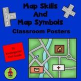 Map Skills and Map Symbols Classroom Posters