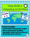 World Map Activities with Continents and Oceans