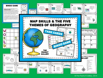 Map Skills and the Five Themes of Geography BUNDLE