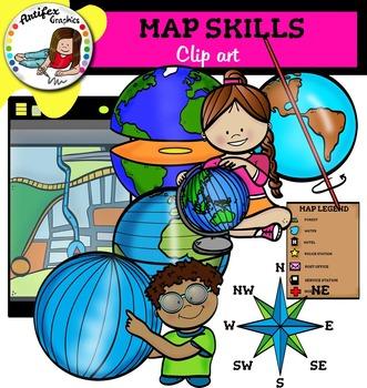 Map Skills clip art