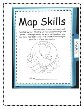 Map Skills for 3rd - 6th Grade Lapbook