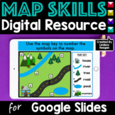 Map Skills for Google Classroom Distance Learning
