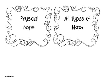 Map Sort to review map features (political, physical, topographic)
