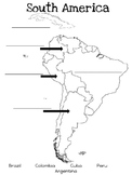 Map- South America