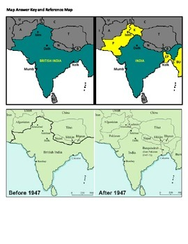 Map Study - 1947 Partition of India