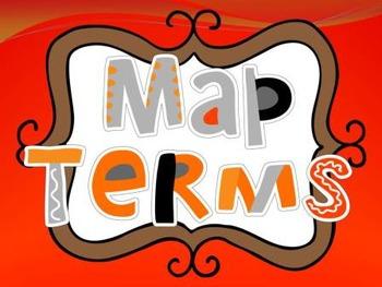Map Terms Poster Set