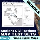 Map Test Set Bundle for Ancient Civilizations