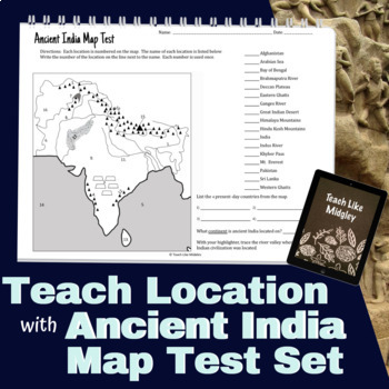 Map Test Set for Ancient India
