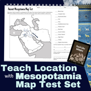 Map Test Set for Ancient Mesopotamia