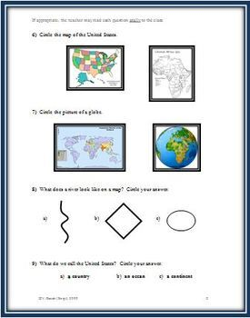 Map Test for the Primary Grades