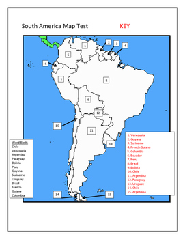Map Tests - South and Central America