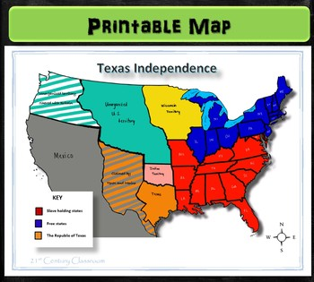 Map: Texas  Independence