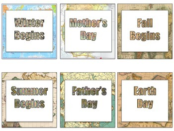 Map Theme Calendar Kit