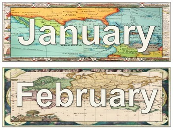 Map Theme Calendar Kit