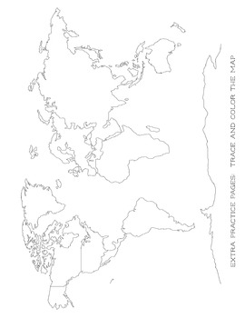 Map Tracing - Blob Mapping - extra practice work sheet - For All Ages Classical