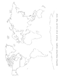 Map Tracing - Blob Mapping - extra practice work sheet - F