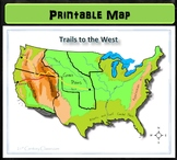 Map: Trails to the West