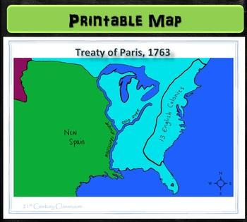 Map: Treaty of Paris