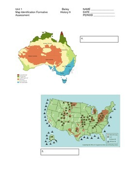 Map Type Identification Worksheet