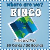 Map Skills BINGO - Map Vocabulary Game
