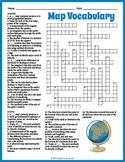 Map Vocabulary Crossword Puzzle