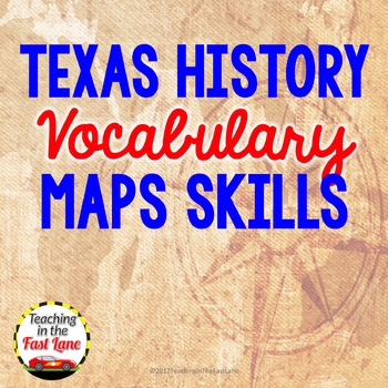 Map Skills Vocabulary Match Up