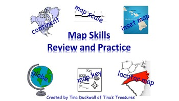 Map Vocabulary Practice and Review Powerpoint