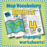 Map Vocabulary Puzzle Bundle