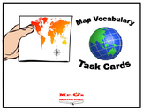 Map Vocabulary Task Cards