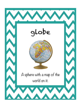 Map Vocabulary Word Posters
