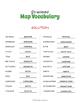 Map Vocabulary Word Scramble Worksheet