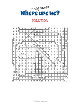 Map Vocabulary Word Search Puzzle