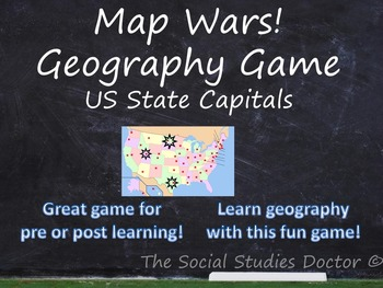 Map wars geography game state capital cities edition tpt map wars geography game state capital cities edition gumiabroncs Image collections
